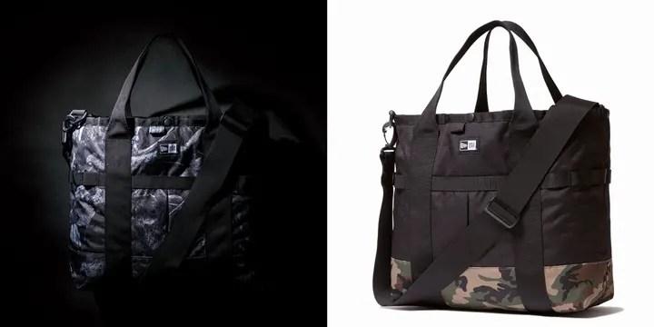 New Eraから2-Way仕様の大容量トートバッグにニューカラー「ダークナイトツリー」「ウッドランドカモ」がリリース! (ニューエラ Tote Bag)