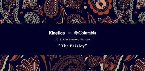 キネティクス × コロンビア 2016 A/Wが近日展開!「ペイズリー」パターンがテーマ! (kinetics Columbia 2016年 秋冬)