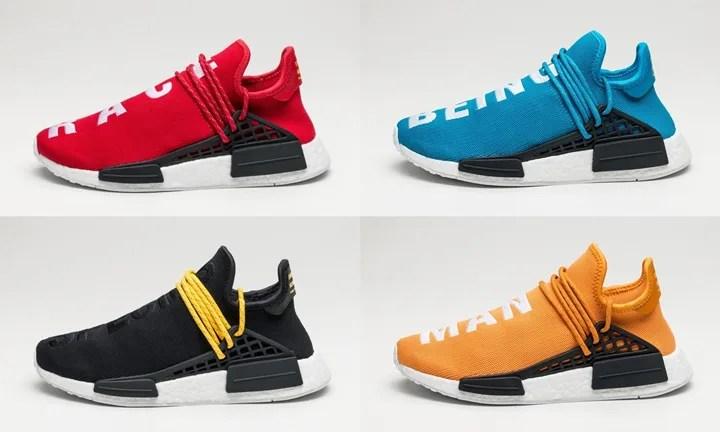 """【海外9/29発売】Pharrell Williams x adidas Originals NMD_R1 """"HUMAN RACE"""" 4カラー (ファレル・ウィリアムス アディダス オリジナルス エヌ エム ディー アール ワン """"ヒューマン レース"""") [BB0616,0618,3068,3070]"""