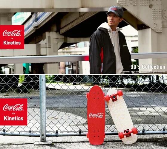 kinetics × Coca-Colaの90年代のロゴデザインやスローガンを使用した「90's Collection」が展開! (キネティクス コカコーラ)
