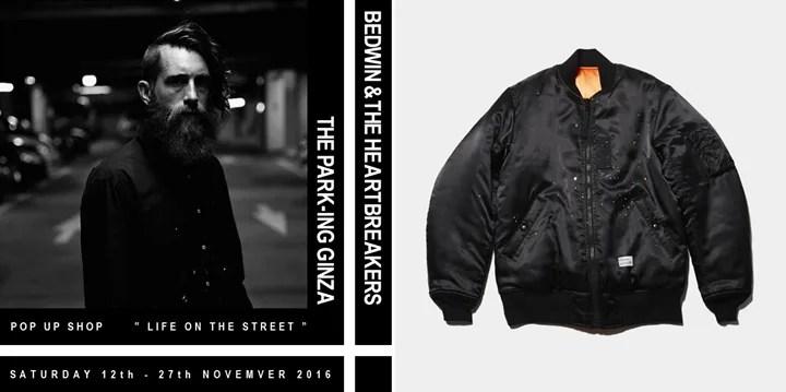 THE PARK・ING GINZAにてBEDWIN & THE HEARTBREAKERSのポップアップ「Life On The Street」が11/12から開催!別注アイテムもリリース! (ザ・パーキング銀座 フラグメント ベドウィン アンド ザ ハートブレイカーズ)