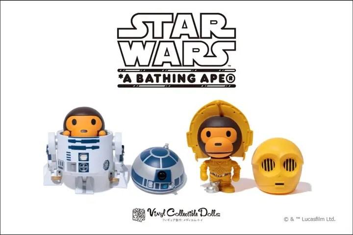 A BATHING APE × STAR WARS VCDにR2-D2/C-3POが11/23発売! (ア ベイシング エイプ スターウォーズ)
