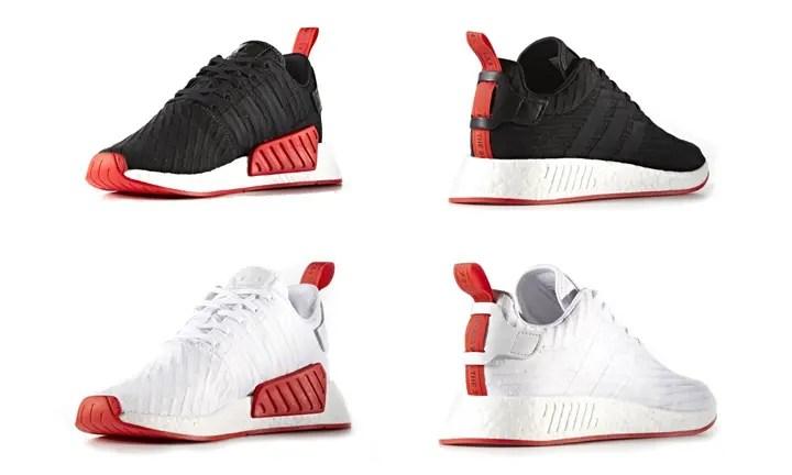 """adidas Originals NMD_R2 PRIMEKINIT {PK} """"Black/Red"""" """"White/Red"""" (アディダス オリジナルス エヌ エム ディー ランナー プライムニット """"ブラック/レッド"""" """"ホワイト/レッド"""")"""