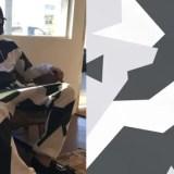 幾何学模様のRichardson Magazine クルーネック/スウェットパンツがリリース! (リチャードソン マガジン)