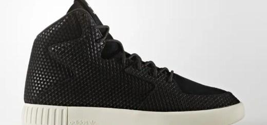 """レザーアッパーに三角エンボスグラフィックを加工したアディダス オリジナルス チュブラー インベーダー 2.0 """"コアブラック"""" (adidas Originals TUBULAR INVADER """"Core Black"""") [S76707]"""