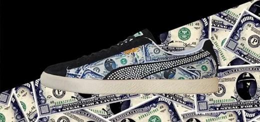 オリジナルのドル札紙幣プリントを施したmita sneakers × PUMA CLYDEが12/10発売! (ミタスニーカーズ プーマ クライド)