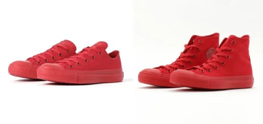 "ABC-MART限定!コンバース オールスター モノカラーズ 3 ""レッド"" OX/HI (CONVERSE ALL STAR MONOCOLORS III ""Red"" OX/HI)"
