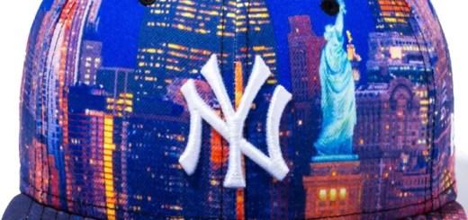 New Eraからニューヨークの夜景に佇む自由の女神、ニューヨークのコニーアイランドビーチ、ロングアイランドのマップをサブリメーションプリントで表現したシリーズが発売! (ニューエラ)