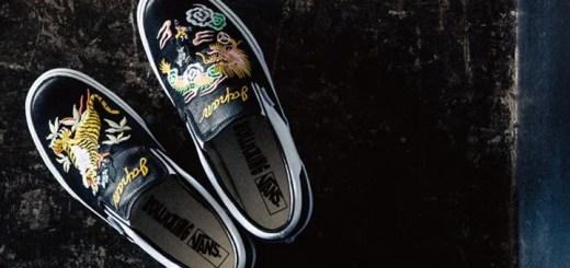 スカジャンがテーマのROLLICKING x VANS SLIP-ON ニューカラーが3月発売 (ローリッキング バンズ スリッポン コレクション)