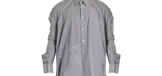 VETEMENTS × Comme des Garçons asymmetric striped shirt (ヴェトモン コム デ ギャルソン アシンメトリック ストライプ シャツ)
