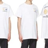 SSENSE限定!OFF-WHITE C/O VIRGIL ABLOH ホワイト ワーク T シャツ (オフホワイト)