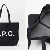 日本限定!デニム地にA.P.C.ロゴをプリントしたシンプルなトートバッグが発売! (アー・ペー・セー)