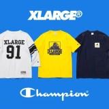 X-large × Champion 2017 S/S コラボが4/28発売! (エクストララージ チャンピオン)