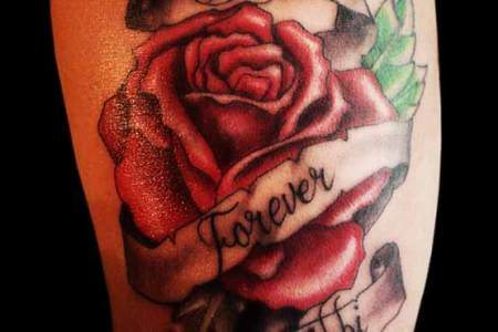 creatively rose tattoo designs
