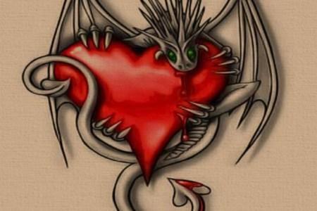 free tattoo designs heart and devil 555x555