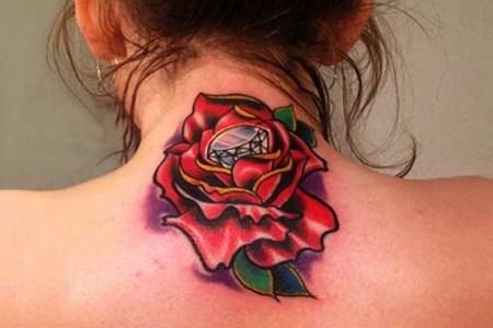 girl rose tattoo designs 555x555
