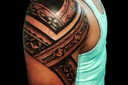 tribal arm tattoos for men design 555x555