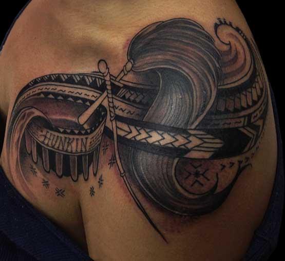 Cool Hawaiian Tattoo For Women