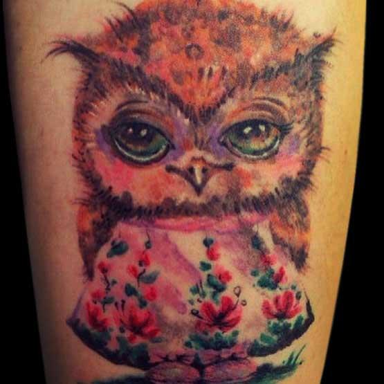 Cute Owl Tattoo Ideas Designs