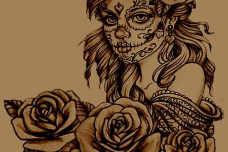 how to create your own sugar skull tattoo