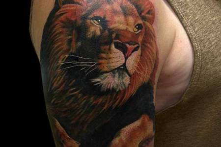 lion head tattoo designs on sleeve