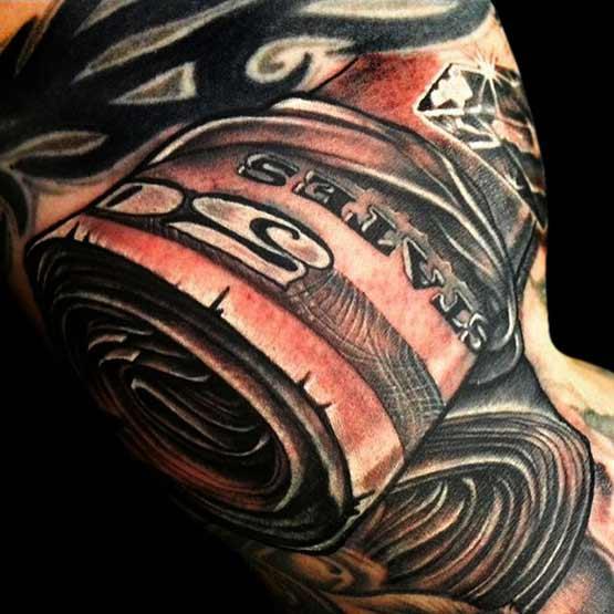 Money Roll Tattoo Designs For Men