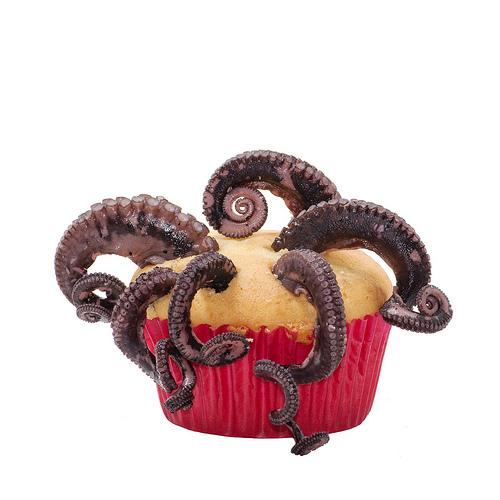octopus cupcake