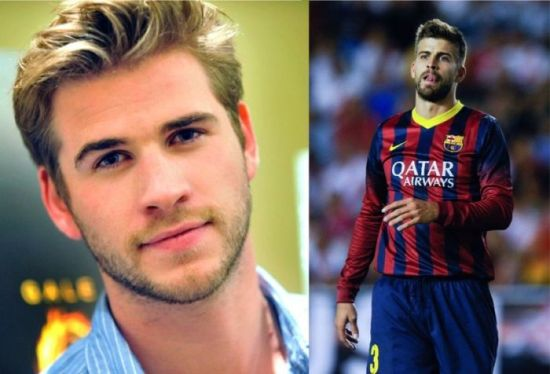 Liam Hemsworth and Gerard Pique