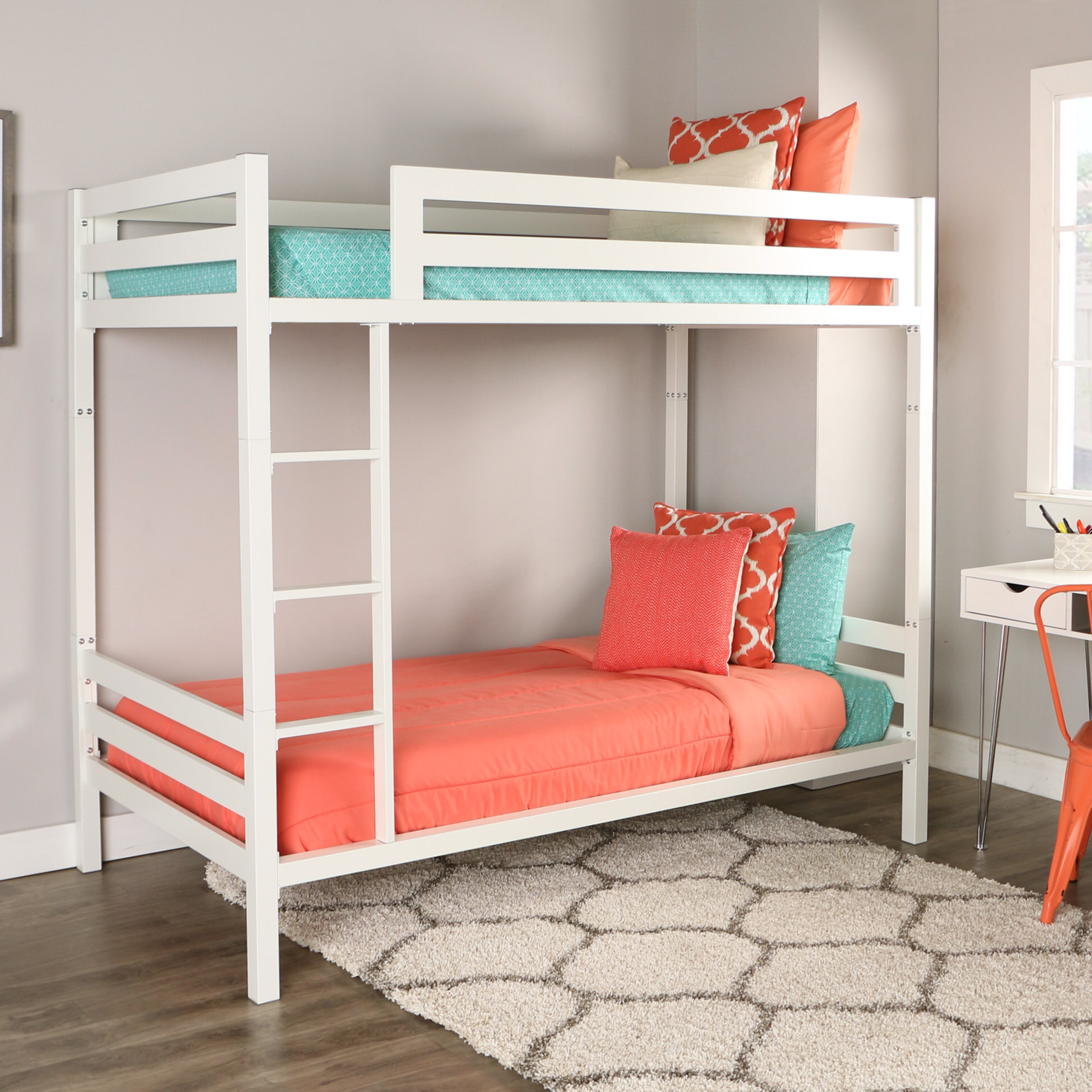Diverting Bentley Twin Over Twin Metal Bunk Bed By Walker Edison Bentley Twin Over Twin Metal Bunk Bed By Walker Edison Bunk Beds That Separate Bunk Beds Wayfair baby White Bunk Beds