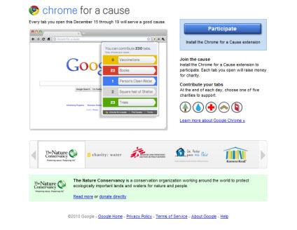 Google's Chrome for a Cause