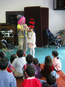 Clowns for rent Kids birthday party rentals Chicago san jose children's entertainment los angeles happy clowns