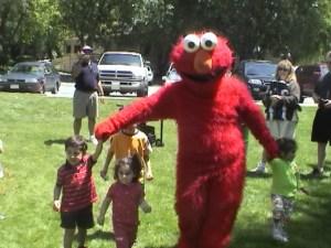 Elmo Costume for Rent Kids Party San Jose Children's Entertainment