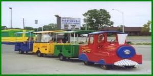 kids party rental trackless train orange county childrens parties los angeles san diego san jose