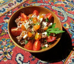 quinoa, salad, mediterranean, tabouli, tomato, tomatoes, summer salad, salads, recipe, recipes, cooking