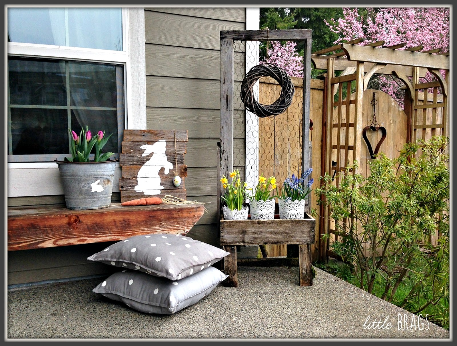 Stunning Easter Spring Med Porch By Little Featured On Kyjunk Interiors Pj Diy Spring Junk Junk Interiors Ky Junk Interiors Pallet Sofa Ky Junk Interiors Pallet Chair houzz-03 Funky Junk Interiors