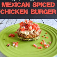 Low Carb Mexican Chicken Burgers