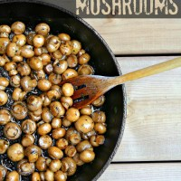 Beer Butter Mushrooms