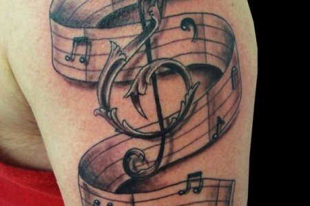 beautiful music tattoo designs for women