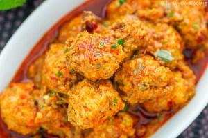 Chicken Kofta Curry Meatball funloveandcooking.com