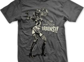 zombie shirts, i love you for your brains zombie, horror zombie shirts
