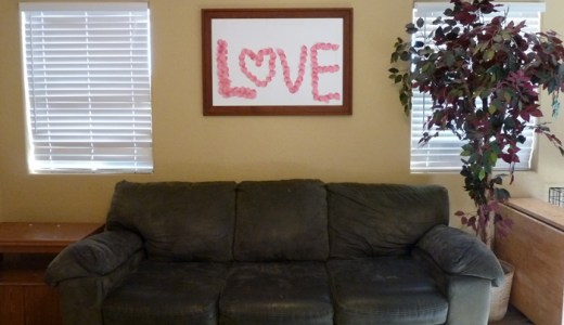 Easy Valentine's Love Board Decor