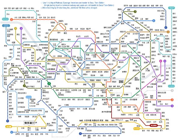 首爾地鐵路線圖