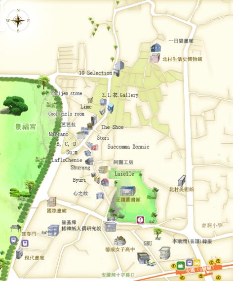 三清洞簡易逛街圖