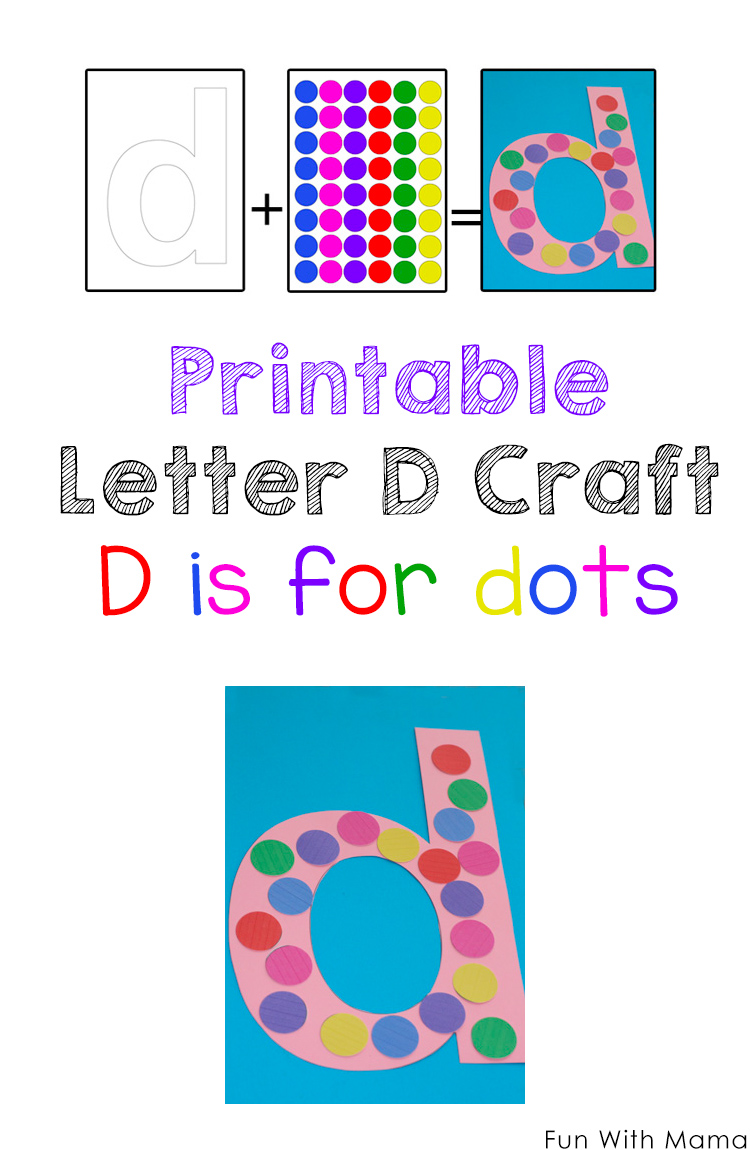 Printable Letter D Crafts D is for Dinosaur