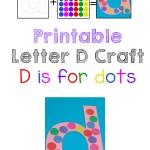 Printable Letter D Crafts D is for Dinosaur