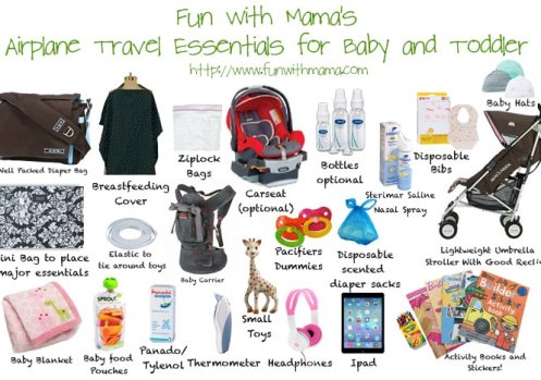 travel essentials when flying with baby and toddler