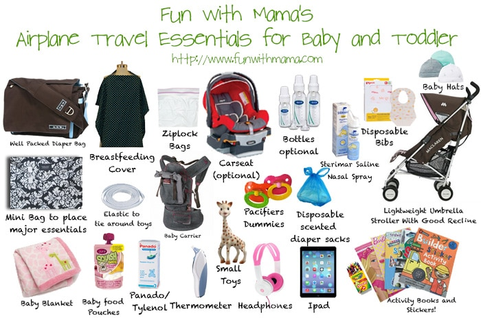 Tips & Essentials For Traveling and Flying With A Baby, Toddler And Kids