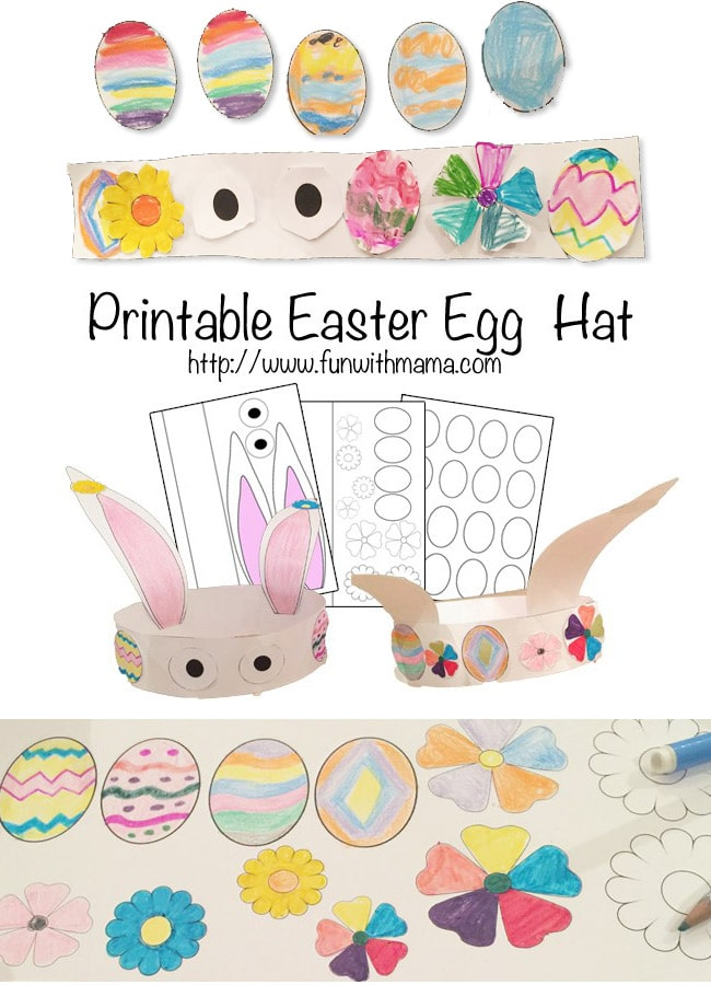 Bunny hat easter activity fun with mama kids and for Easter hat template printable