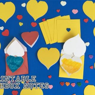 Printable Lunch Box Notes Crayon Resist Activity would be a great surprise for kids