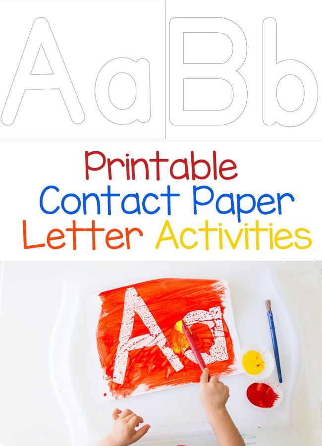 contact paper letter painting fun with mama kids and With contact paper letters